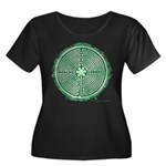Green Chartres Cathedral Labyrinth Plus Size T-Shi