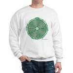 Green Chartres Cathedral Labyrinth Sweatshirt