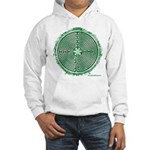 Green Chartres Cathedral Labyrinth Hoodie