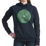 Green Chartres Cathedral Labyrinth Women's Hooded