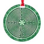 Green Chartres Cathedral Labyrinth Ornament