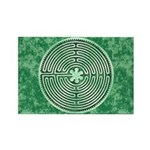 Green Chartres Cathedral Labyrinth Magnets