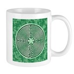 Green Chartres Cathedral Labyrinth Mugs
