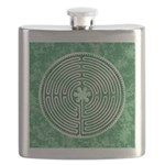 Green Chartres Cathedral Labyrinth Flask