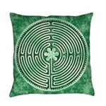 Green Chartres Cathedral Labyrinth Everyday Pillow