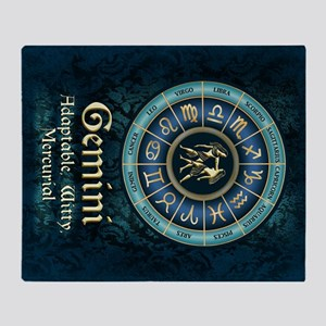 Gemini Astrology Zodiac Sign Throw Blanket