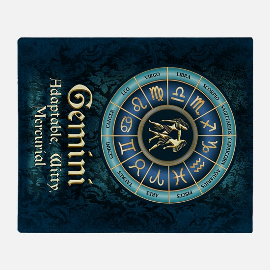 Gemini Astrology Zodiac Sign Throw Blanket
