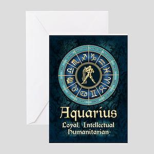 Aquarius Astrology Zodiac Sign Greeting Cards
