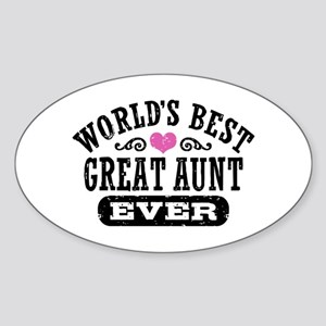 World's Best Great Aunt Ever Sticker (Oval)