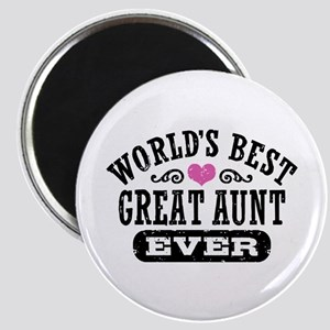 World's Best Great Aunt Ever Magnet