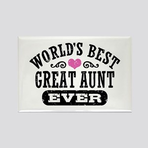 World's Best Great Aunt Ever Rectangle Magnet