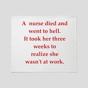 nurse Throw Blanket