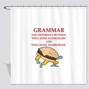 A funny joke Shower Curtain