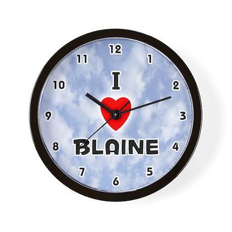 I Love Blaine (Black) Valentine Wall Clock