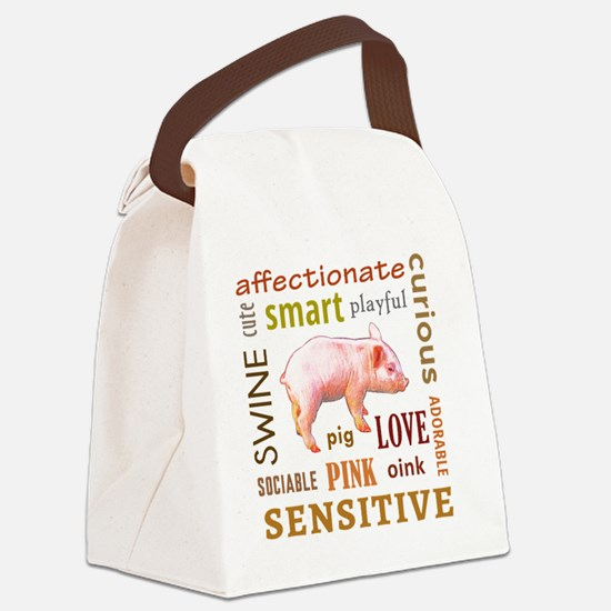 Cute Bacon baby Canvas Lunch Bag