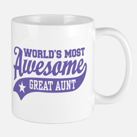 World's Most Awesome Great Aunt Mug