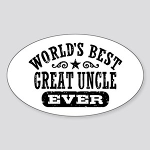 World's Best Great Uncle Ever Sticker (Oval)