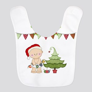 My First Christmas Polyester Baby Bib