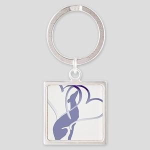 Greyhound Hearts Keychains