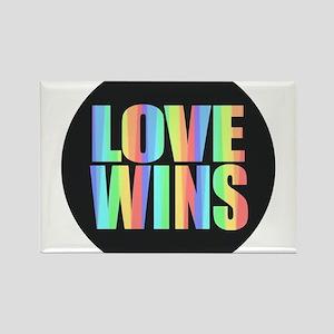 Love Wins Rainbow Magnets