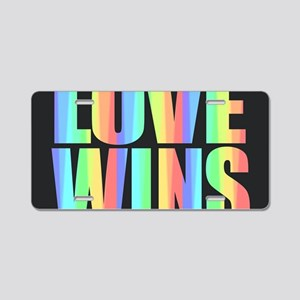 Love Wins Rainbow Aluminum License Plate