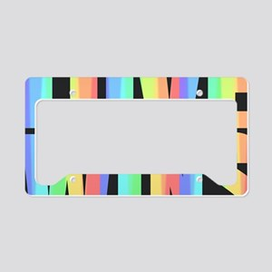 Love Wins Rainbow License Plate Holder