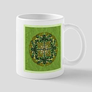 Celtic Dragonflies Green Mugs