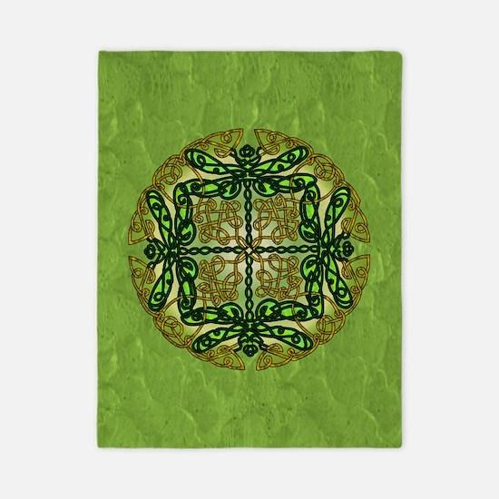 Celtic Dragonflies Green Twin Duvet