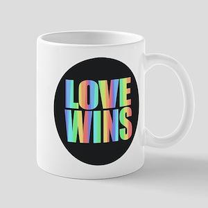 Love Wins Rainbow Mugs