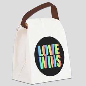 Love Wins Rainbow Canvas Lunch Bag