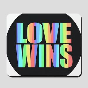 Love Wins Rainbow Mousepad