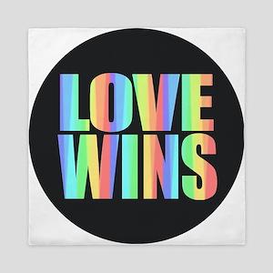 Love Wins Rainbow Queen Duvet