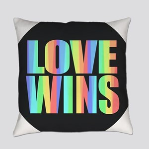 Love Wins Rainbow Everyday Pillow