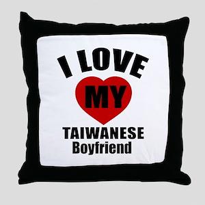 I Love My Taiwan Boyfriend Throw Pillow