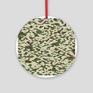 Camouflage: Arid Desert I Round Ornament