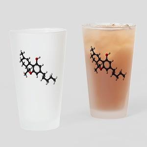 Chemical Symbol for Marijuana Drinking Glass