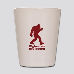 Bigfoot (Sasquatch) ate my bacon! Shot Glass