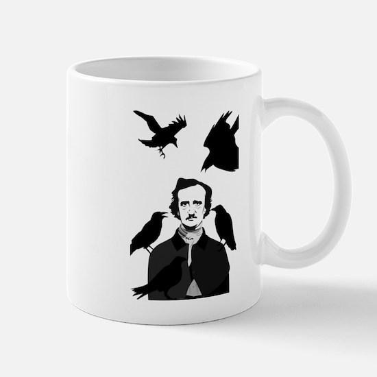 Edgar Allan Poe with Ravens Mugs