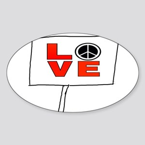 Peace & Love Sticker