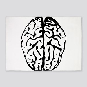 Drawing of a Human Brain 5'x7'Area Rug