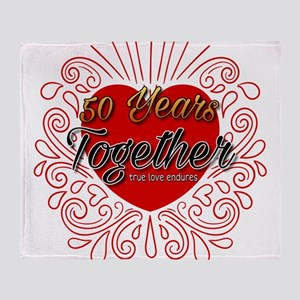 50 Years Together Throw Blanket