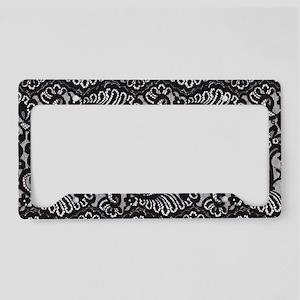 Black Lace License Plate Holder