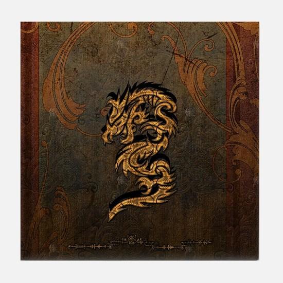 Awesome dragon Tile Coaster