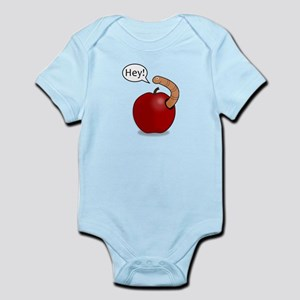 Red Apple Worm Pal Body Suit