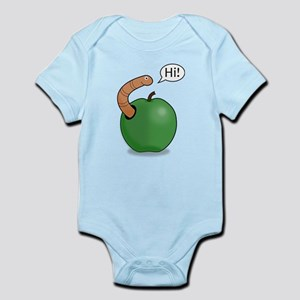 Green Apple Worm Pal Body Suit