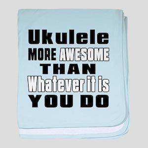Ukulele More Awesome baby blanket