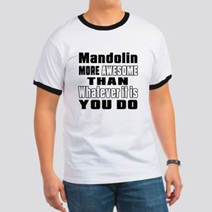 Mandolin More Awesome Ringer T