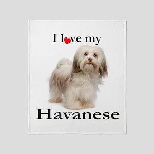 Love My Havanese Throw Blanket