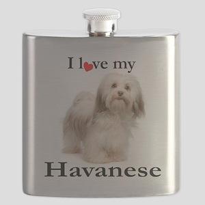 Love My Havanese Flask