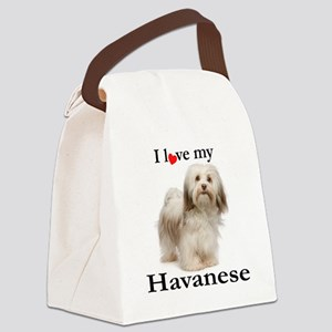 Love My Havanese Canvas Lunch Bag